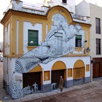 Street art tubusból