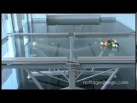 Biliárdasztal üvegből