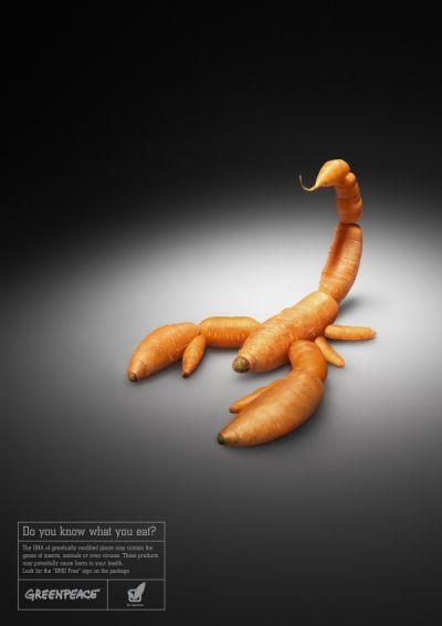 Greenpeace reklám kampány génkezelt zöldségekkel