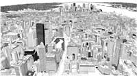 nagyváros rajzolva