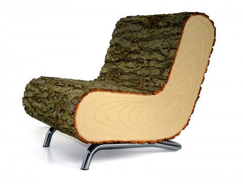 Faszék - design bútor a természetből