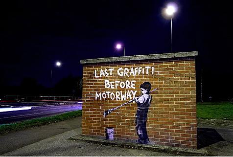 banksy 2009-es street art graffitije