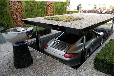 autó exkluzív garázsba