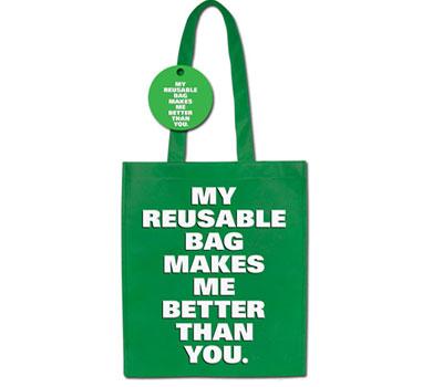 Green Shopping Bag - az újrahasznosított zacsimtól vagyok menőbb mint te