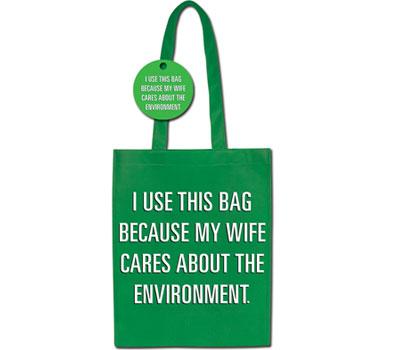 Green Shopping Bag - azért használom ezt, mert a feleségem törődik a környezettel
