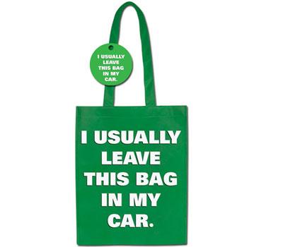 Green Shopping Bag - ezt a zacsit általában a kocsiban hagyom