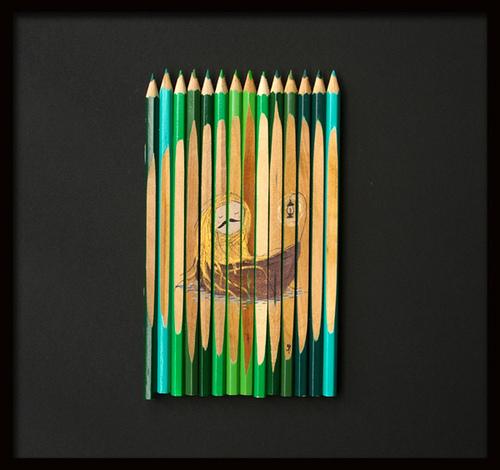 művészet a színes ceruzán