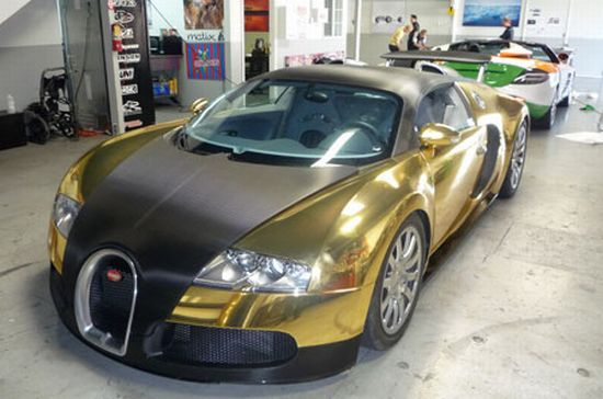 arany bugatti veyron a gumball 3000-en