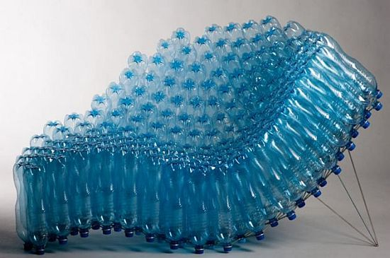 újrahasznosított pillepalack fotel