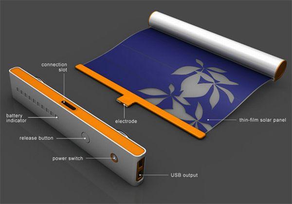 Napelemes függöny és USB-s töltő