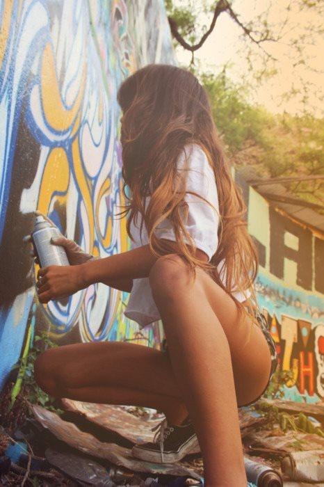 Graffitis csaj