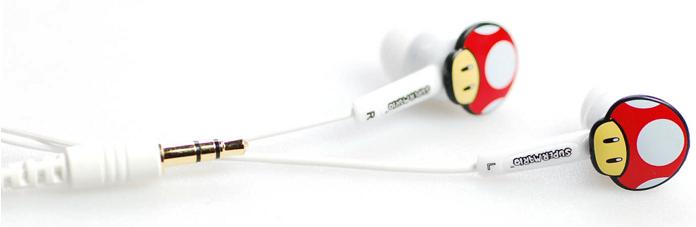 Super Mario Earbud Agybadugós fülhallgató