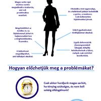 A magas sarkú cipő egészségügyi hatásai