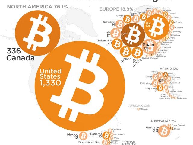 Elképesztő módon terjed a Bitcoin ATM-ek száma a világban!