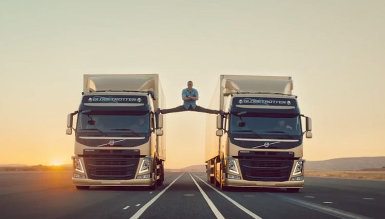 Van Damme Does Epic Split In Volvo Ad - Business Insider