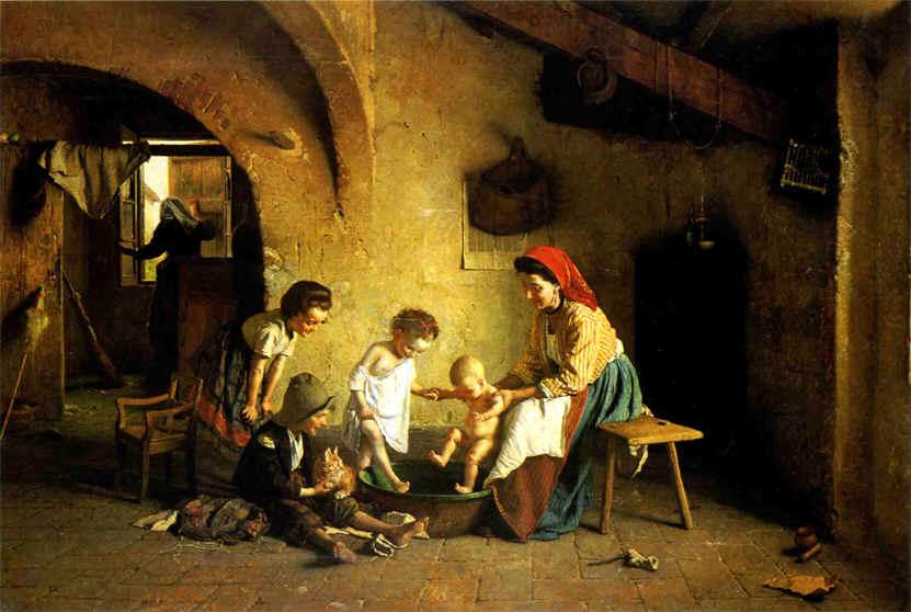 Chierici Gaetano Az első fürdetés.jpg
