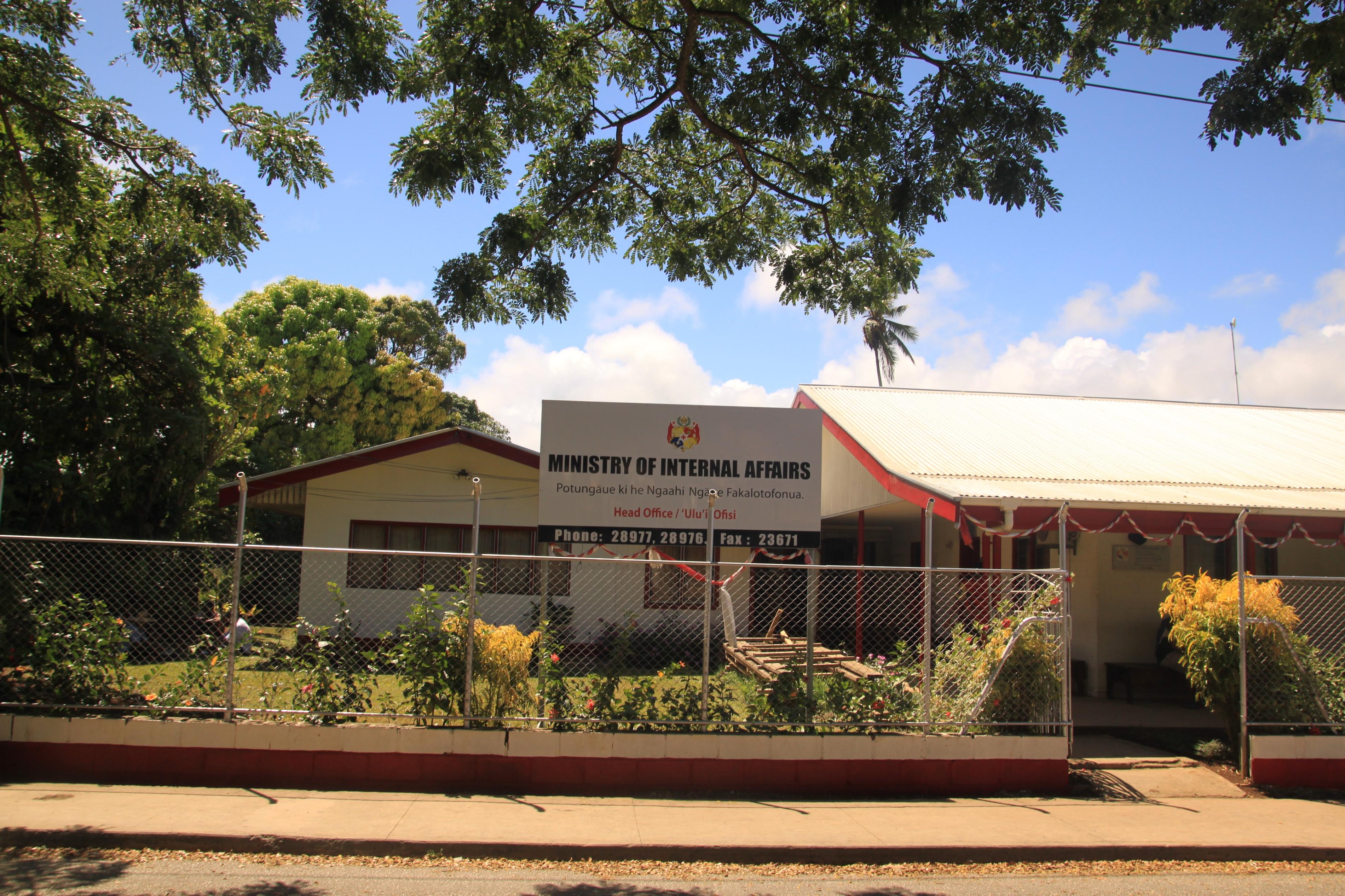 Ez a kép mutatja be leginkább Tonga provinciális jellegét: ez ugyanis a belügyminisztérium épülete.