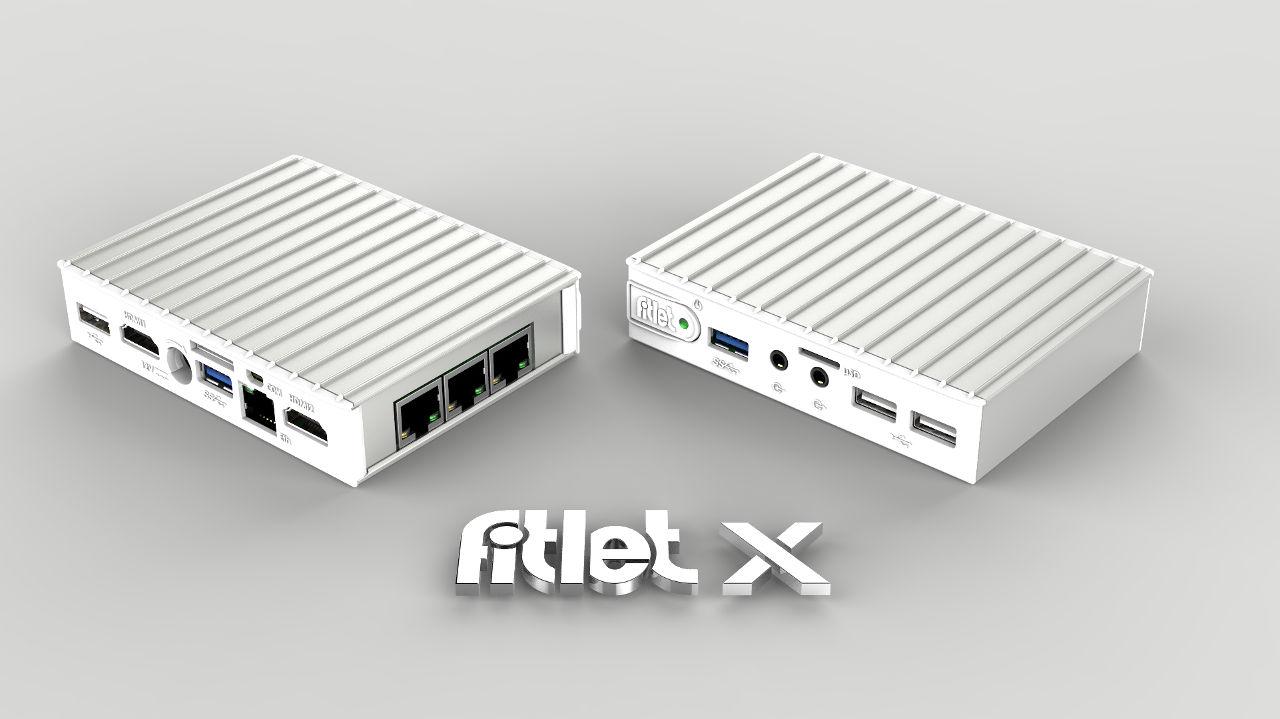 Fitlet X - 4 x LAN portos hálózati alkalmazásokhoz