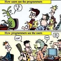 Így látják egymást a programozók és a felhasználók