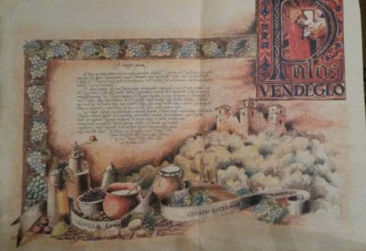 Az étterem ételalátétje a pálosok történetét írta le.