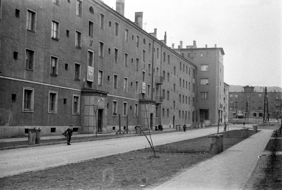 1961 Kilián-észak, Szinyei Merse Pál utca a Lányi Ernő utca felől nézve (fotó: Szánthó Zoltán)