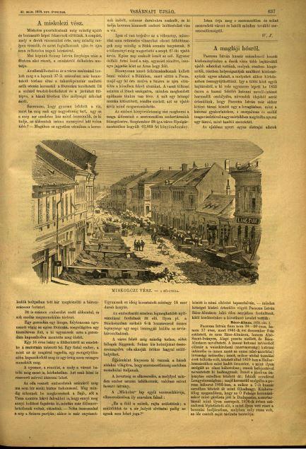 Részletek az 1878-as Vasárnapi Újság 38. és 40. számából.