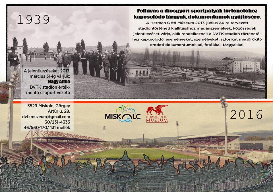 Várjuk a diósgyőri sportpályák történetéhez kapcsolódó relikviákat
