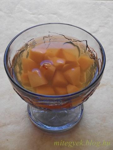 Birsalma kompót (tejmentes, tejfehérje mentes, laktózmentes, szójamentes, gluténmentes, tojásmentes)