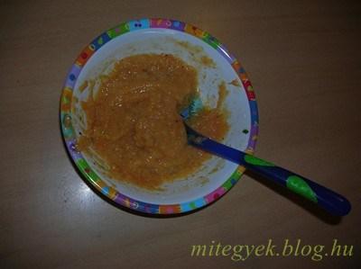 Gergő kedvenc babafőzeléke (tejmentes, tejfehérje mentes, laktózmentes, szójamentes, gluténmentes, tojásmentes)