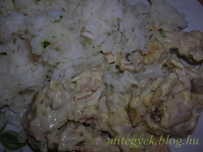 Tejszínes pulyka (tejmentes, tejfehérje mentes, laktózmentes, szójamentes, gluténmentes, tojásmentes)