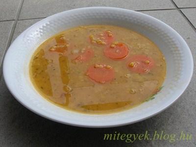 Vöröslencse leves (tejmentes, tejfehérje mentes, laktózmentes, szójamentes, gluténmentes, tojásmentes)