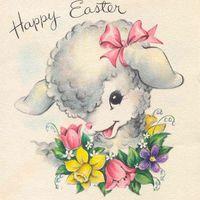 Retro húsvéti képeslapok