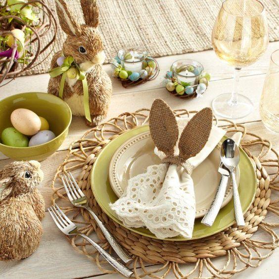Dekorációs ötletek a húsvéti asztalhoz