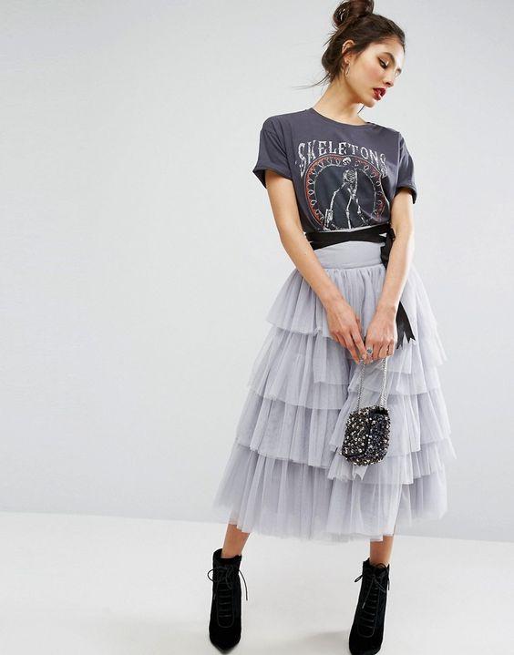 Így viseld a tüll szoknyát, ha nem akarod, hogy túl kislányos legyen