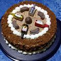 Pálinkás étcsokoládé torta