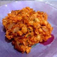 Csicseriborsós tonhalas rizs