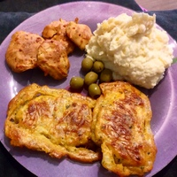 Bundás karaj krumplipürével