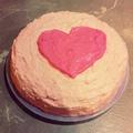 Valentin napi torta próbálkozás...