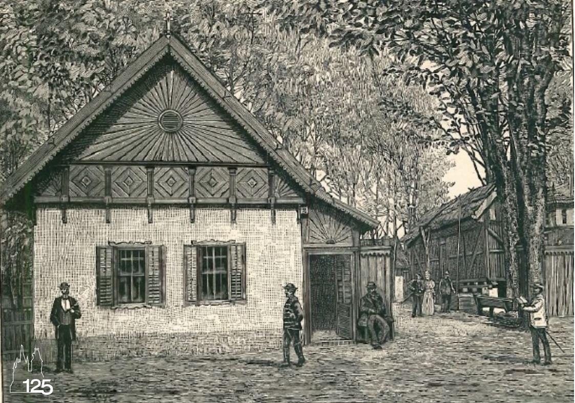 Falurészlet: Csongrád megyei ház (Képek az 1896. Ezredéves Országos Kiállításról I. füzet, MMGM Könyvtár)