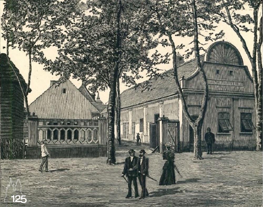 Falurészlet: Nagy gecsai sváb ház, Torontálmegye (Képek az 1896. Ezredéves Országos Kiállításról I. füzet, MMGM Könyvtár)