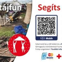 QR-kóddal is gyűjt a Magyar Vöröskereszt a Fülöp- szigeteki tájfun áldozatainak