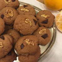 Narancsos kakaós keksz dióval és csokival