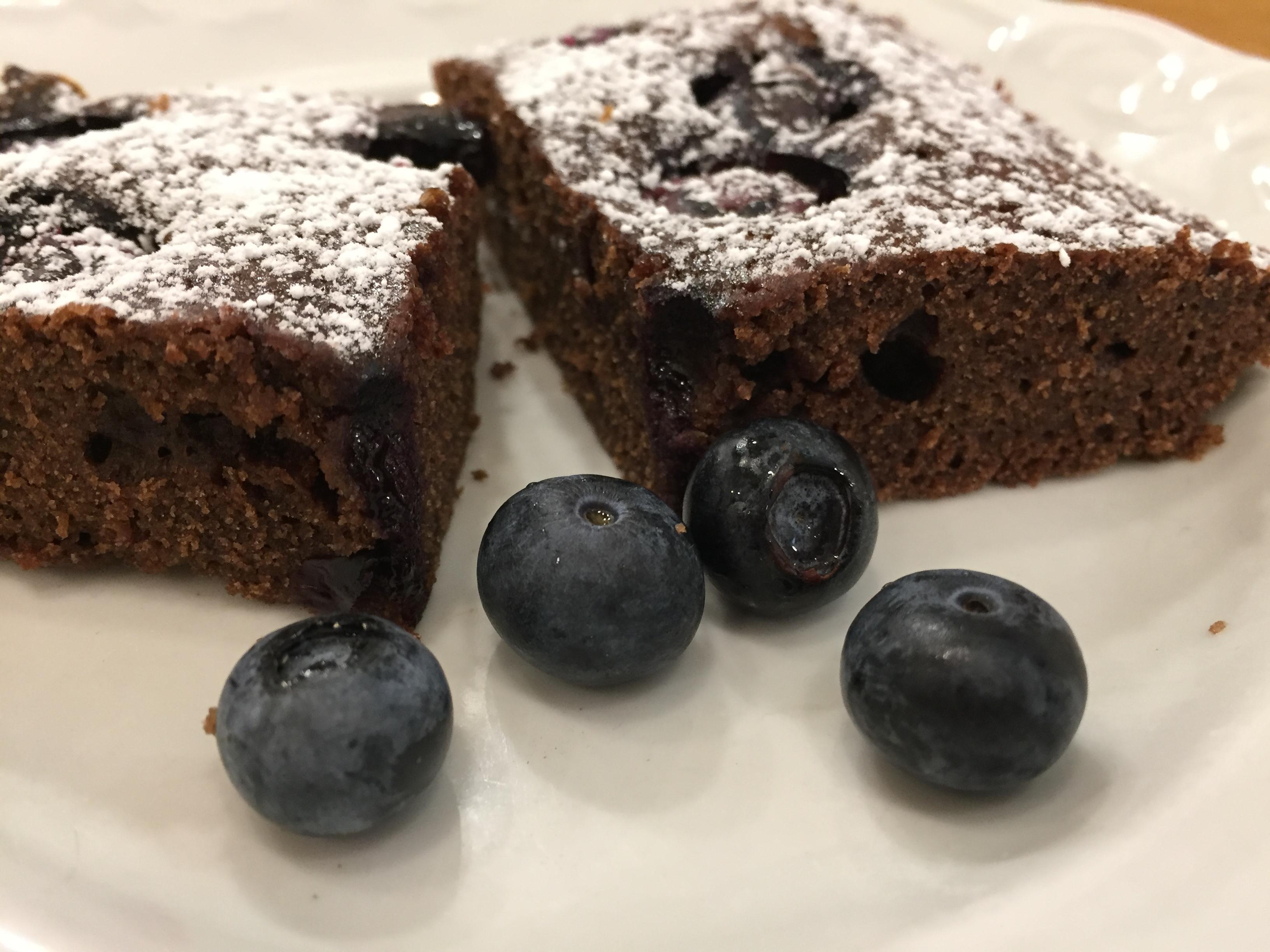 10 perces áfonyás brownie