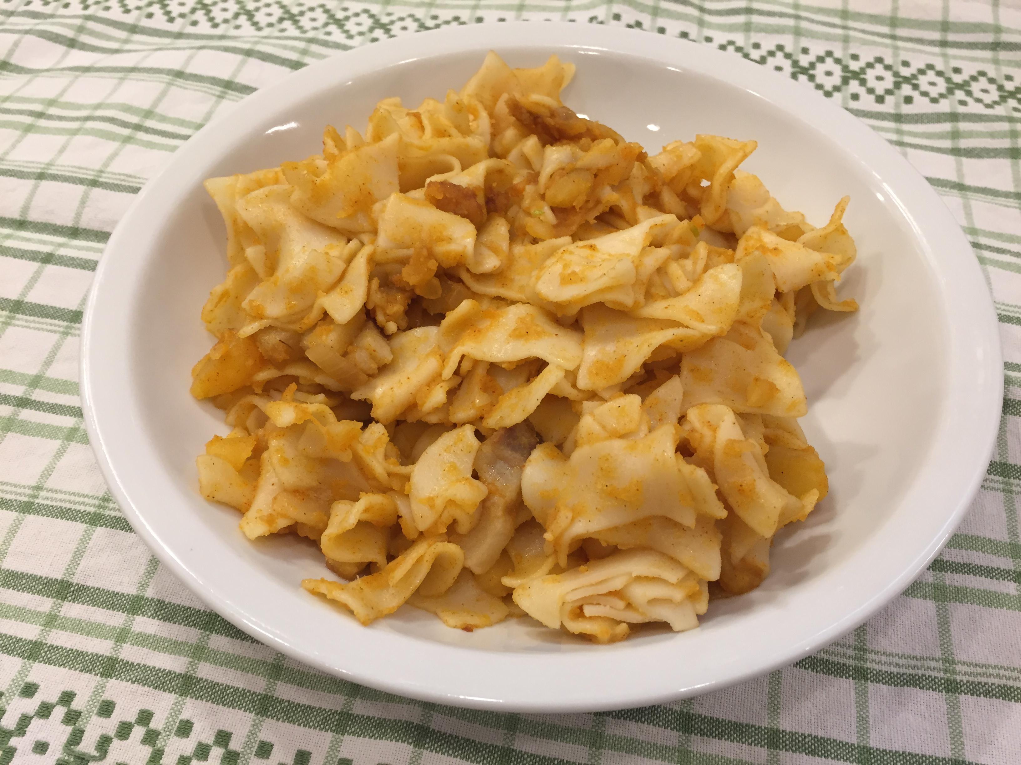Szalonnás krumplis tészta
