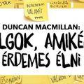 Duncan MacMillan: Dolgok, amikért érdemes élni