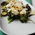 Sült cukkinis saláta kecskesajt öntettel