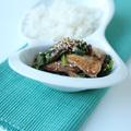 Spenótos, gombás sült tofu szezámmaggal és rizzsel