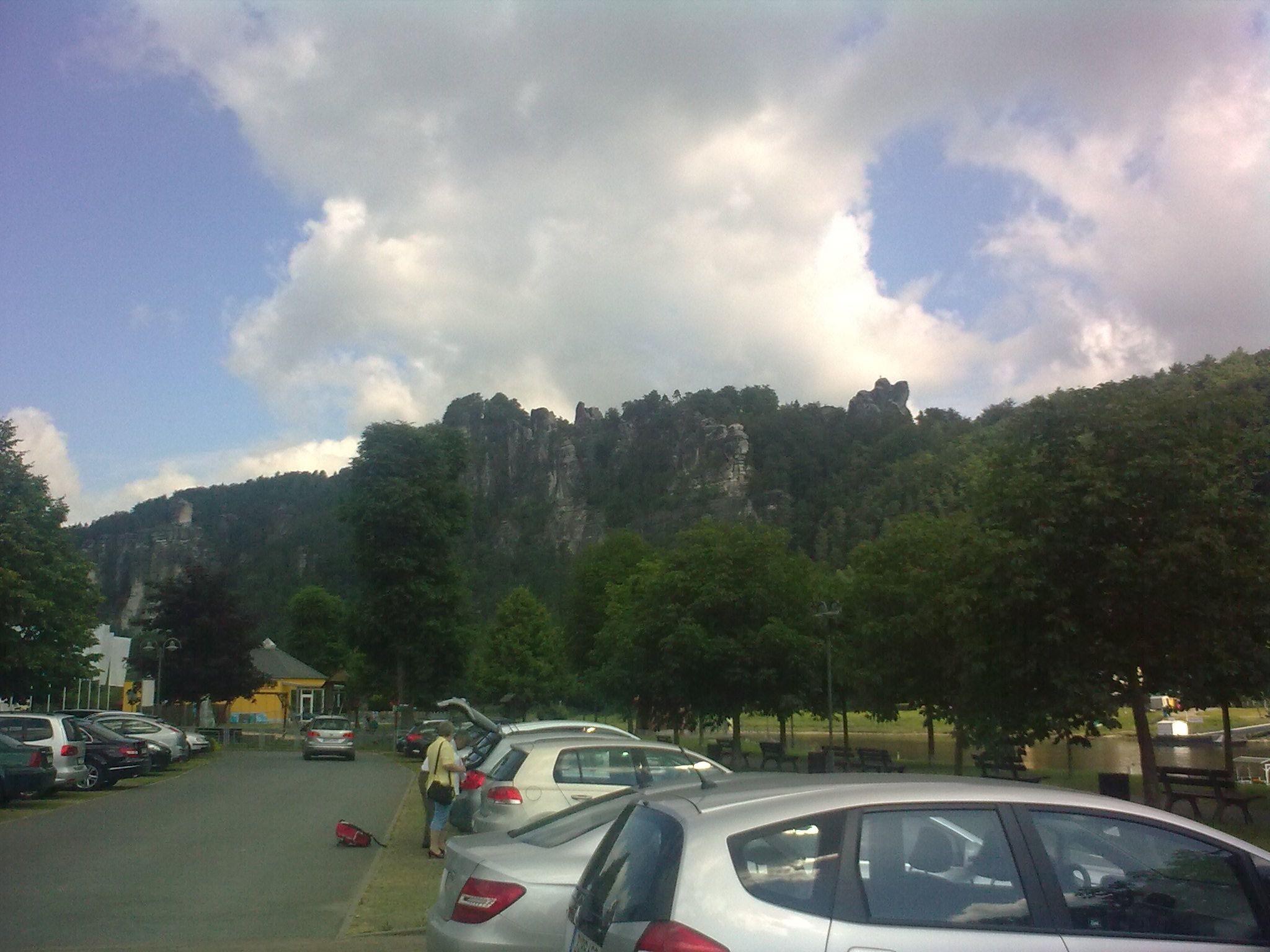 A parkoló Oberrathenben