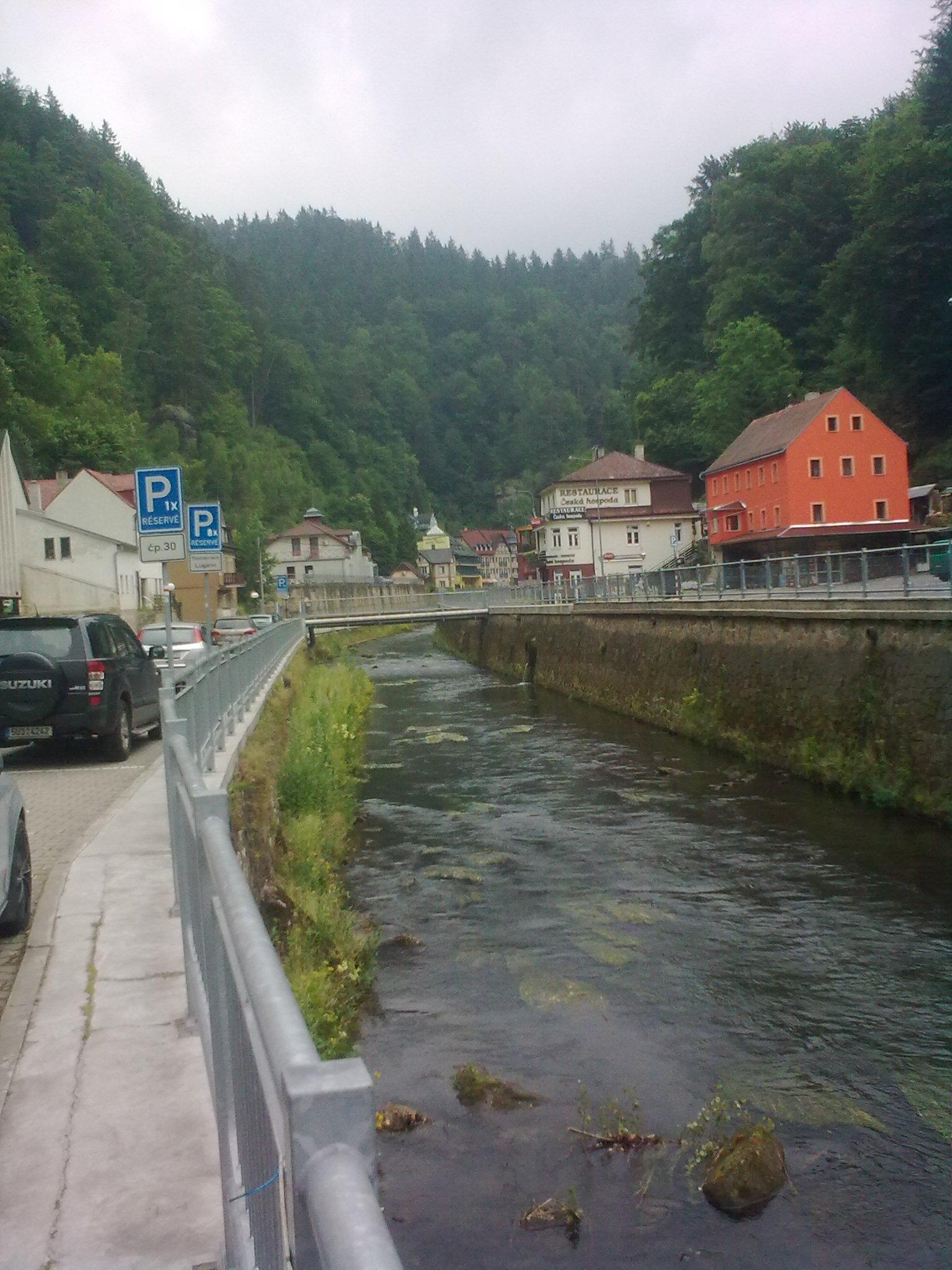 Hrensko, a Kamenice folyó