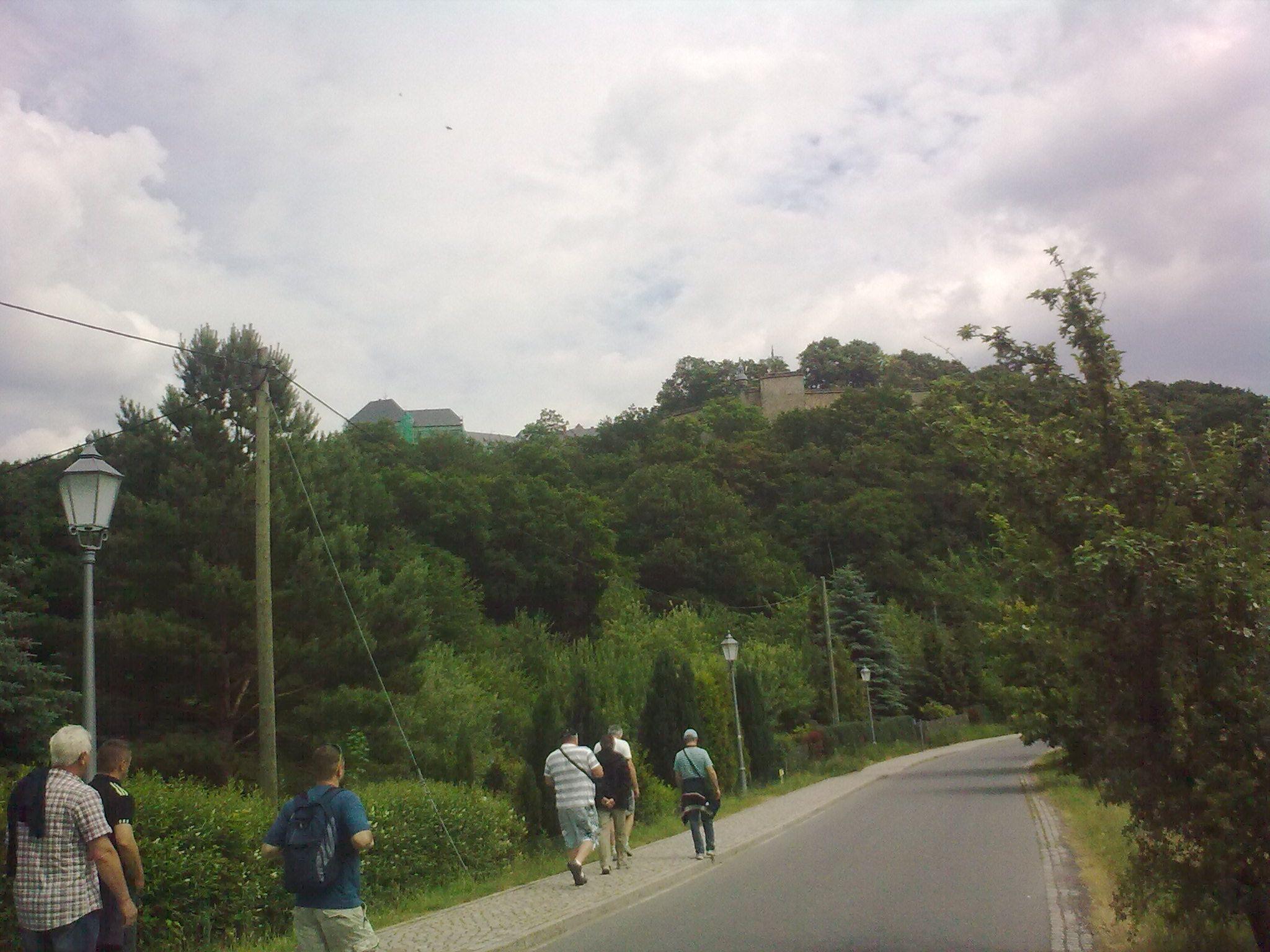Königstein, útban a vár felé